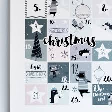 my personalised countdown advent print by rory the