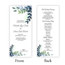 tea length wedding programs 52 best wedding program templates diy images on