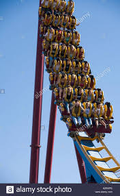 Six Flags Rollercoaster Scream Rollercoaster Six Flags Magic Mountain Rides Valencia Stock