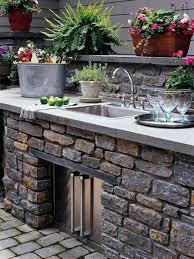 kitchen stunning outdoor kitchen decoration using light grey