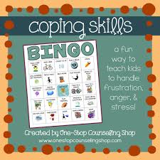 coping skills bingo autism pinterest bingo teaching and