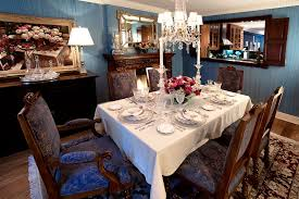 traditional dining room with hardwood floors by duneier