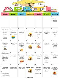 april menu plan 30 days of kid friendly dinners with free