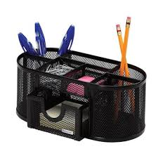 Pencil Holders For Desks Rolodex Supplies Caddy Oval Mesh Pen Holder Pencil Storage Home