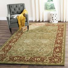 Square Wool Rug Safavieh Handmade Persian Legend Light Green Rust Wool Rug 10