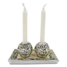 amazon com silver plated shabbat candles holders small