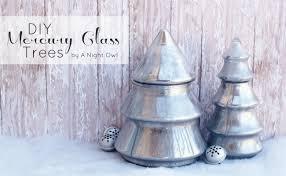 diy mercury glass trees a owl