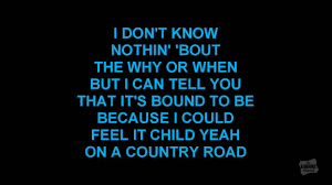 country road in the style of james taylor karaoke video youtube