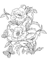 blossom poppies coloring free printable coloring pages