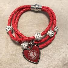 braided cord bracelet images Alabama crimson tide braided cord bracelet fan 39 s crate JPG