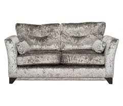 Grey Silver Sofa Modern Crushed Velvet 2 Seater Sofa Grey Silver