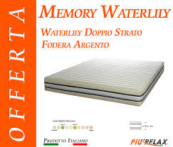 materasso in waterlily materasso memory foam mod memory waterlily zone differenziate