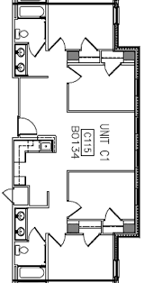 Two Bed Two Bath Floor Plans University Commons Housing