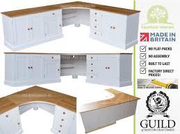 corner desk tops large painted corner workstation desk with solid oak tops