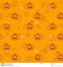 seamless light halloween pattern with pumpkins and leaves royalty