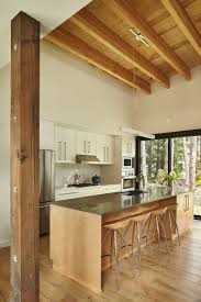islands in the kitchen a couple u0027s crystal mountain area home accommodates a tight budget
