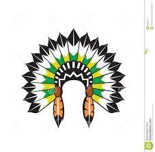 native american clipart headband pencil and in color native