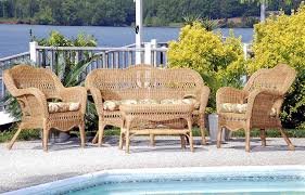 Wicker Patio Table Set All Weather Resin Wicker Furniture Set Cdi 001 S 4