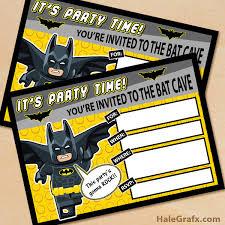 printable lego batman birthday invitation