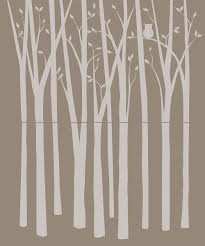 elephants on the wall birch tree silhouette paint by number wall birch tree silhouette paint by number wall mural kit