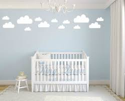 13 clouds decal vinyl wall sticker baby nursery kids childrens