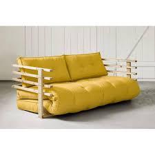 canapé convertible jaune canapé banquette futon convertible au meilleur prix canapé