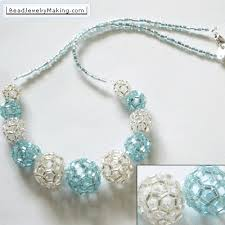 beaded ball necklace images Beaded turquoise and silver ball necklace gif