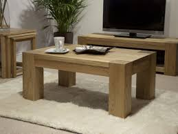 elegant small oak coffee table with storage 2 drawers underneath