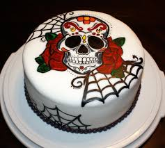 Halloween Decorations Cakes You Have To See Hand Painted Sugar Skull On Craftsy Looking For