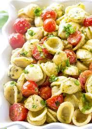 pasta slad caprese pesto pasta salad the girl who ate everything