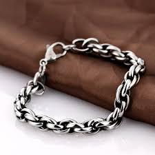 hand bracelet men images 9mm silver plated men bracelets hand chain never fade 316l jpg