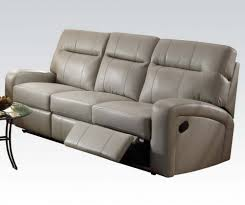 Motion Recliner Sofa by 3 Pc Gray Bonded Leather Motion Reclining Sofa Set By Acme