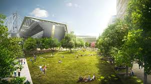 proposed cornell tech campus the central campus esplanade with