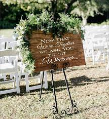 Wedding Seating Signs Now That We U0027re Together Sit Wherever Reusable Stencil Create