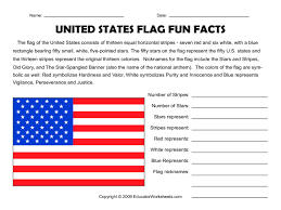 State Flags Of Usa United States Flag Fun Facts Worksheet For 3rd 5th Grade
