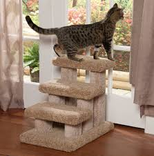 pet stairs and ramps 3 step carpeted stairs by beatrise pet