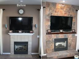 fireplace remodel with stone raising fireplace inserts and