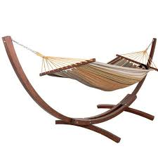 12feet wood arc hammock stand and 100 cotton fabric spreader bar