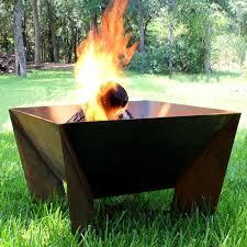 Steel Firepit Dezen Steel Outdoor Pit Contemporary Patio Chicago Metal