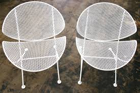 Mesh Patio Table by Mesh Patio Chairs In The Style Of Salterini Circa 1950 At 1stdibs