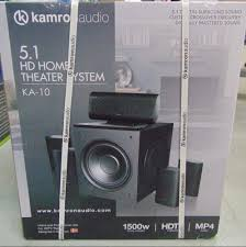 home theater 5 1 kamron audio 5 1 hd home theater system ka 10 1500w ebay