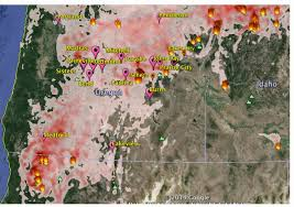 Fire Map Oregon by Oregon Smoke Information Wildland Fire Air Quality Forecast For