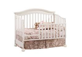Convertible Crib With Toddler Rail Avalon Convertible Crib In Linen W Platinum Tufted Panel By