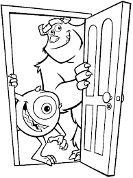 monsters coloring pages u003d activity disney movie nights