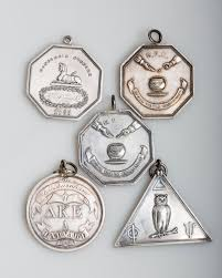 harvard three hasty pudding club octagonal medals a dekes club