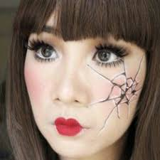 Porcelain Doll Halloween Costumes Doll Face Makeup Tutorial Step Step Picture Guide Doll