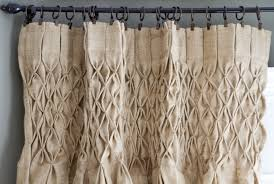 awesome burlap curtain panels photos interior design ideas smocked burlap curtain panel painted fox home