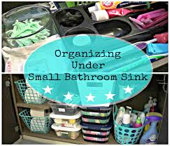 organizing under a small bathroom sink dollar tree storage youtube