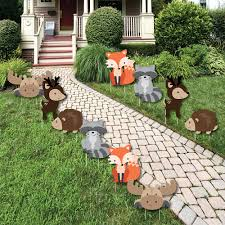 woodland creatures baby shower decorations woodland creatures forest animal lawn decorations outdoor baby