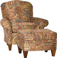 Fabric Armchairs And Ottomans Mayo Furniture 9640 Fabric Chair And Ottoman Mix It Up Carnival
